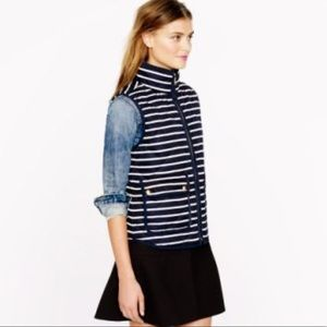 J. Crew {retail} Navy Striped Excursion Vest